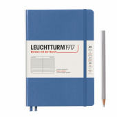 Записная книжка блокнот Leuchtturm Medium A5 Muted Colours в линию, голубой