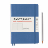 Записная книжка блокнот Leuchtturm Medium A5 Muted Colours в точку, голубой